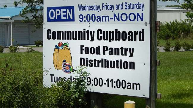 June 12, 2015 - Community Cupboard Food Pantry Distribution every Tuesday from 9:00 am to 11:00 am on College Avenue in Ruskin, FL