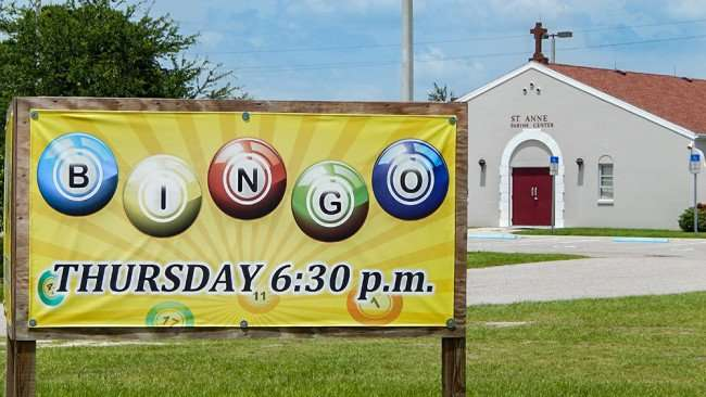 June 12, 2015 - St Anne's Catholic Church has Bingo on Thursdays at 6:30 pm in Ruskin, Florida
