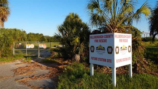 June 15, 2015 - Construction site of new Hillsborough County Fire Rescue Station on US Hwy 41, Apollo Beach South Shore, FL