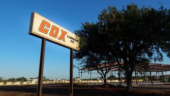 June 15, 2015 - Demolition of Cox Lumber Company underway on US Hwy 41, Apollo Beach South Shore, FL
