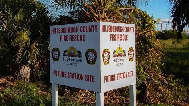 June 15, 2015 - Future Hillsborough County Fire Rescue Station on US Hwy 41, Apollo Beach South Shore, FL