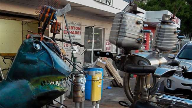 June 17, 2015 -Monsters and Killer Robot made from scrap metal in Hillsborough County, Tampa Florida