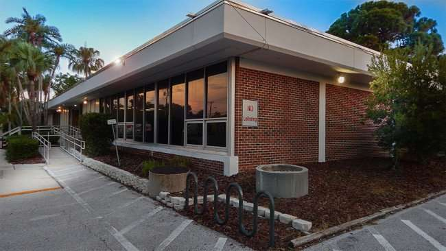 June 20, 2015 - Bike rack at Ruskin Branch Library on Dickman Street, Ruskin, FL
