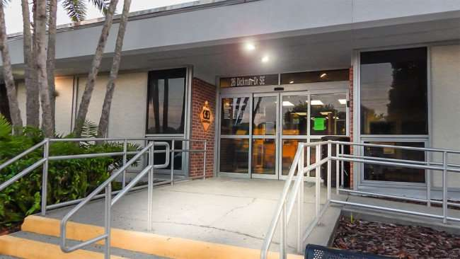 June 20, 2015 - Front entrance of Ruskin Branch Library on Dickman Street, Ruskin, FL