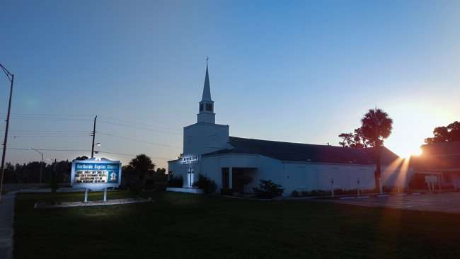 June 20, 2015 - Northside Baptist Church built in 1966 on US Hwy 41 (Tamiami Trail) in Ruskin SouthShore, FL