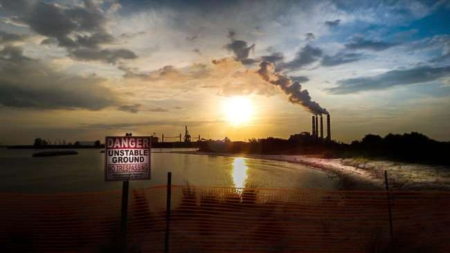 June 22, 2015 - Apollo Beach with Teco Big Bend Power Plant in background in Tampa Bay area of SouthShore, FL