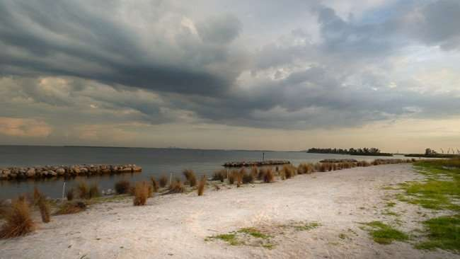 June 22, 2015 - Sandy beach at Apollo Beach Nature Park opened for Summer 2015, SouthShore, FL