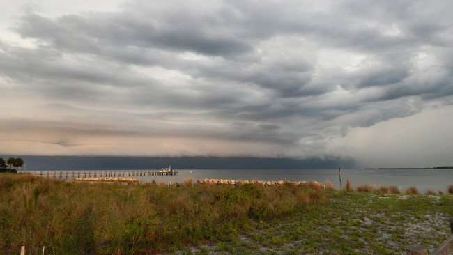 June 22, 2015 - Storm cloud over the bay area at Apollo Beach Nature Preserve Park