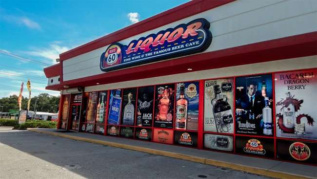 June 23, 2015 - Route 60 Liquor store is the best decorated store in Tampa, FL
