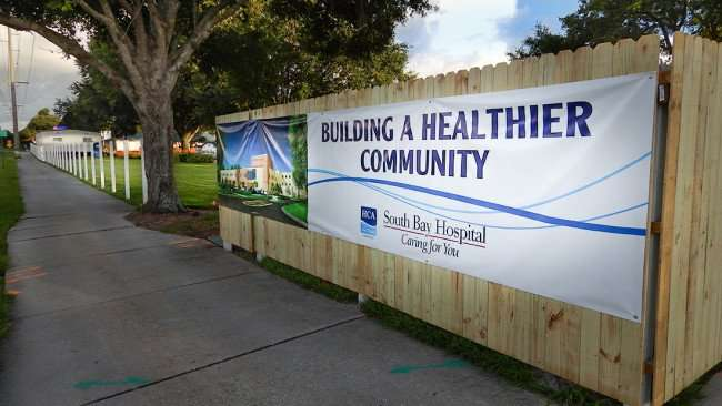June 27, 2015 - Banner that reads Building A Healthier Community at South Bay Hospital