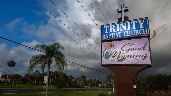 June 27, 2015 - Good Morning sign at Trinity Baptist Church on Sun City Center Blvd (SR 674)