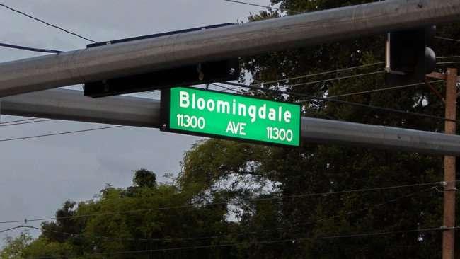 June 30, 2015 - Street Sign - 1300 Bloomingdale Avenue in Riverview, FL