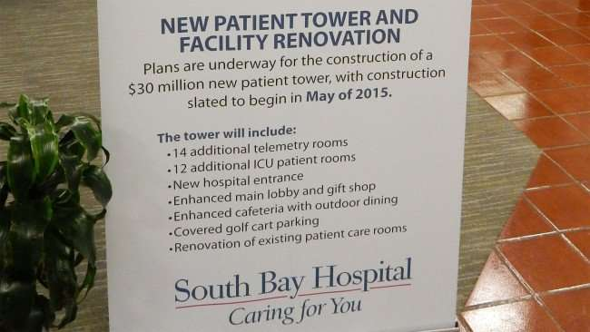 June 4, 2015 -Rendering of New Patient Tower at South Bay Hospital, Sun City Center, FL