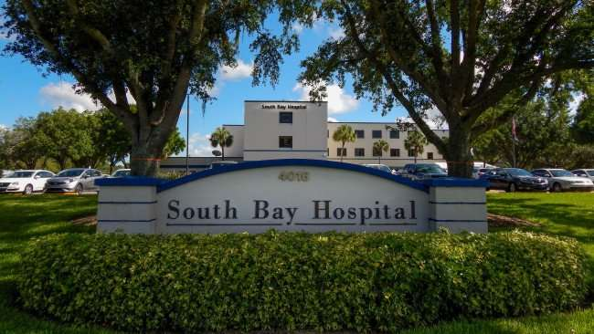 June 4, 2015 - South Bay Hospital sign along 674 in Sun City Center, FL