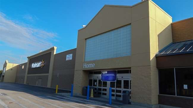 June 7, 2015 - Brandon Walmart Supercenter with sign Store Temporarily Closed