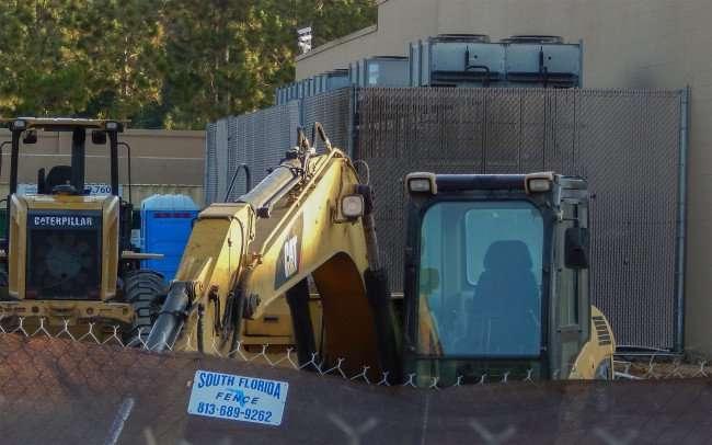 June 7, 2015 - Excavators inside fenced area at Walmart Brandon, FL