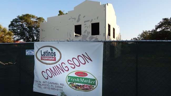 June 7, 2015 - Latinos Fresh Super Market coming soon to Valrico, FL