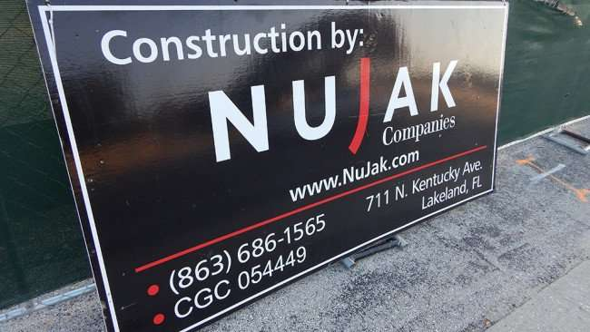 June 7, 2015 - Latinos Fresh Super Market in Valrico, construction by Nujak Companies from Lakeland, FL, (863) 686-1565, CGC 054449
