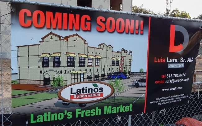 June 7, 2015 - Latinos Super Market coming soon to Valrico, FL