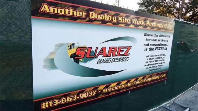 June 7, 2015 - Suarez Grading at construction site of Latinos Fresh Super Market, Valrico, FL