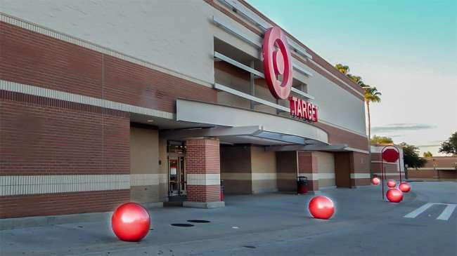 June 7, 2015 - Target Store with red balls in front glowing in Brandon Town Center Dr, Brandon, FL smooth