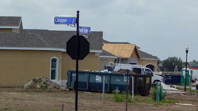 MAY 12, 2015 - housing construction at Chipper Dr and Pacific Dunes Rd in Verona, Sun City Center, FL