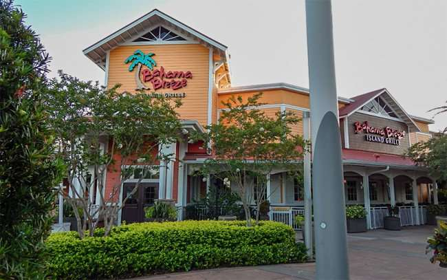 MAY 28, 2015 - Bahama Breeze Island Grille early morning at Westfield Brandon Mall Shopping Center, Brandon, FL