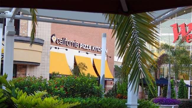 MAY 28, 2015 - California Pizza Kitchen food court at Westfield Brandon Mall, Brandon, FL