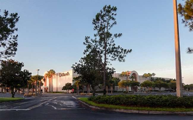 MAY 28, 2015 - Dillards Westfield Brandon Mall without cars or people in Brandon, FL
