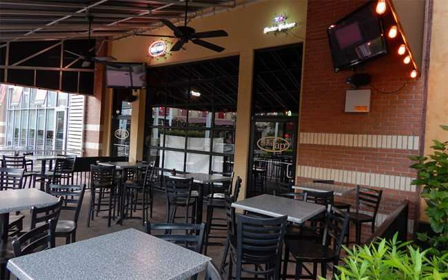 MAY 28, 2015 - The Brass Tap outside dining area in Westfield Brandon Mall