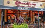MAY 28, 2015 - The Cheesecake Factory (inside lights on) at Westfield Brandon Mall, Brandon, FL