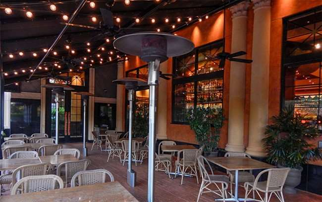 MAY 28, 2015 - The Cheesecake Factory (patio dining area) at Westfield Brandon Mall, Brandon, FL