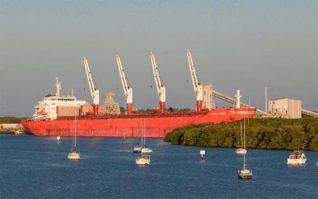 Mystic Striker Cargo Ship at Mosaic Fertilizer, Gibsonton-Tampa, FL