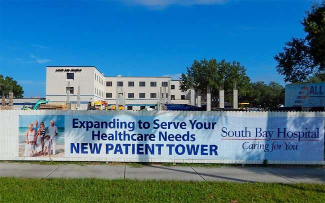 OCT 31, 2015 - Construction of New Patient Tower underway at South Bay Hospital in Sun City Center, FL/photonews247.com