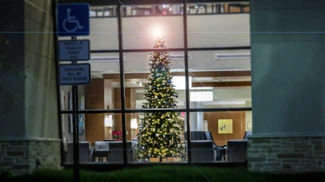 Dec 28, 2016 - South Bay Hospital Christmas tree with glowing angel Sun City Center, FL/photonews247.com