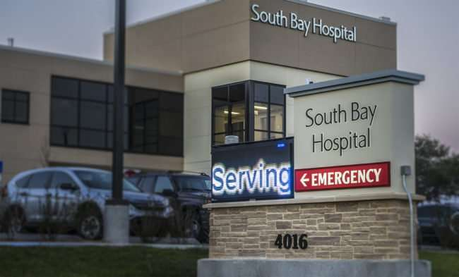 Feb 7, 2017 - South Bay Hospital signage 4016 Sun City Center Blvd/photonews247.com