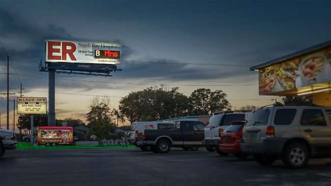 Feb 2, 2017 - South Bay Hospital billboard ad by Mango Jo's Bar and Why Mamas road side dinner across from Hot Tomato, Ruskin, FL SouthShore/photonews247.com