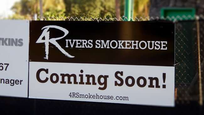 July 19, 2015 - 4 Rivers Smokehouse coming to Swann and MacDill Ave in Tampa, FL