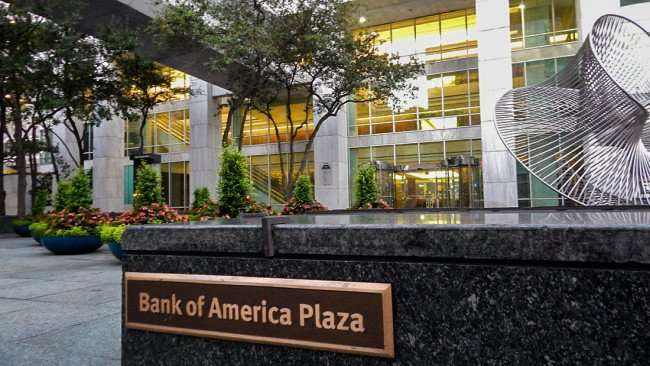 AUG 9, 2015 - Bank of America Plaza embossed on marble step outside building, Downtown Tampa, FL/photonews247.com