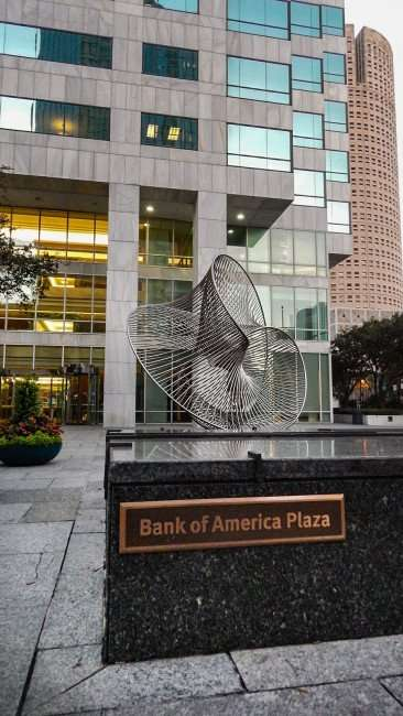 AUG 9, 2015 - Bank of America Plaza with Rivergate Towers on the right in Downtown Tampa, FL/photonews247.com