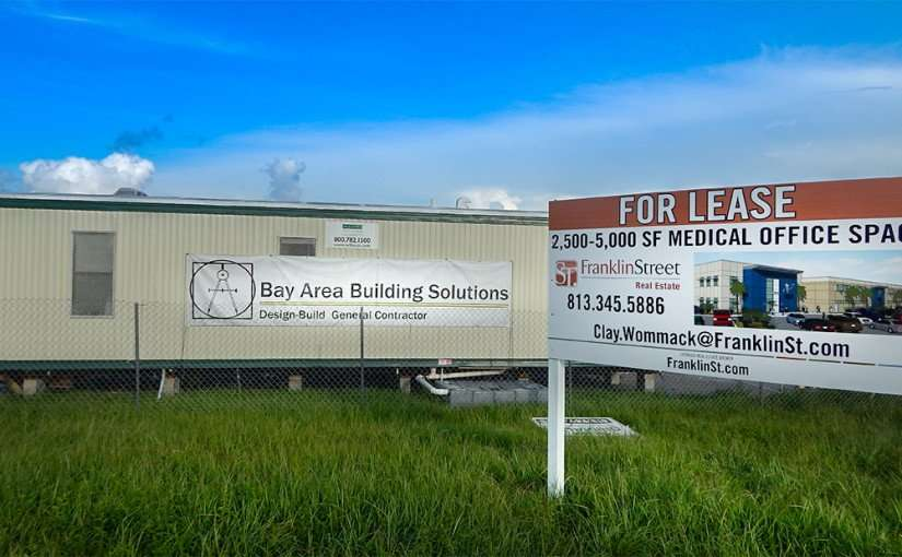 JULY 19, 2015 - Bay Area Building Solutions and Franklin St Real Estate at Medical building construction site at 4531, 5441 S Mabry Hwy, Tampa, FL/2015 photonews247.com