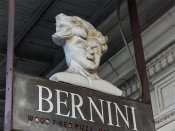 NOV 8, 2015 - Bernini sign with womens head on top at front door, Ybor CIty Tampa, FL/photonews247.com