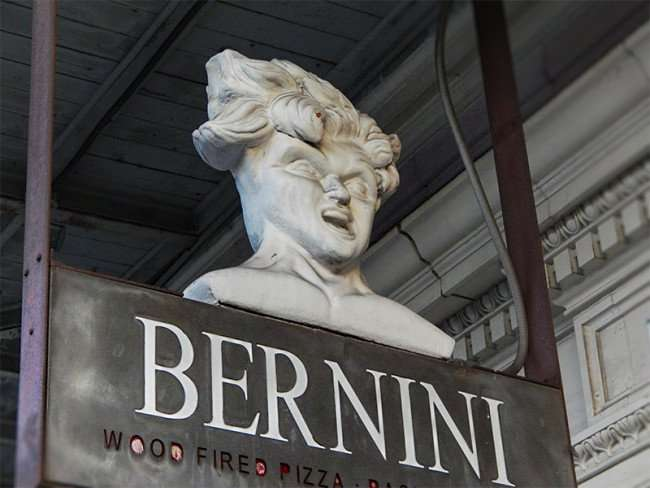 NOV 8, 2015 - Bernini sign with womens head on top at front door, Ybor CIty Tampa, FL/photonews247.com