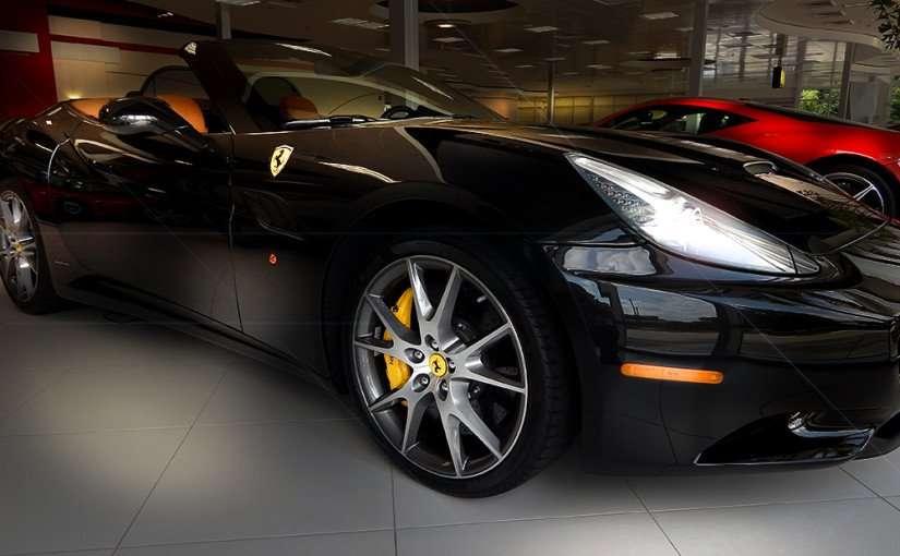 July 14, 2015 - Black 2010 Ferrari California with brown seats in mid 100 thousands at Ferrari Tampa
