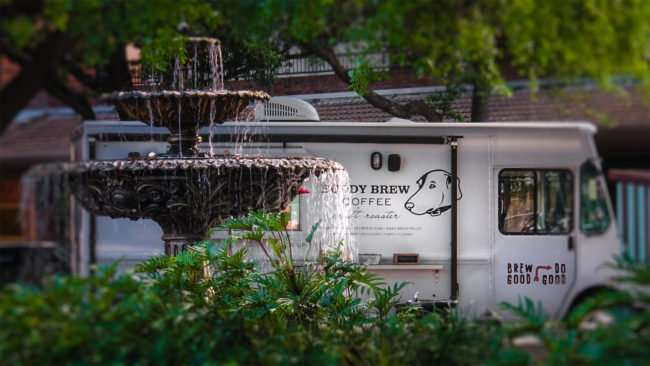 April 10, 2016 - Buddy Brew Coffee Truck in Hyde Park Village, Tampa/photonews247.com