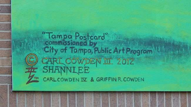 July 19, 2015 - CREDITS: Tampa Postcard by Carl Cowden III 2012, Carl Cowden IV and Griffin R Cowden on mural Florida Ave