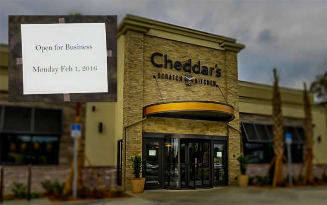 Jan 23 2016 - Cheddar's Open For Business Monday, Feb 1, 2016 on N Dale Mabry, Carrollwood Tampa, FL/photonews247com