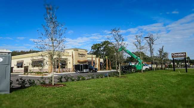 DEC 6, 2015 - Cheddar's Scratch Kitchen Restaurant building under construction on N Dale Mabry opening 2016, Tampa,FL/photoenews247.com