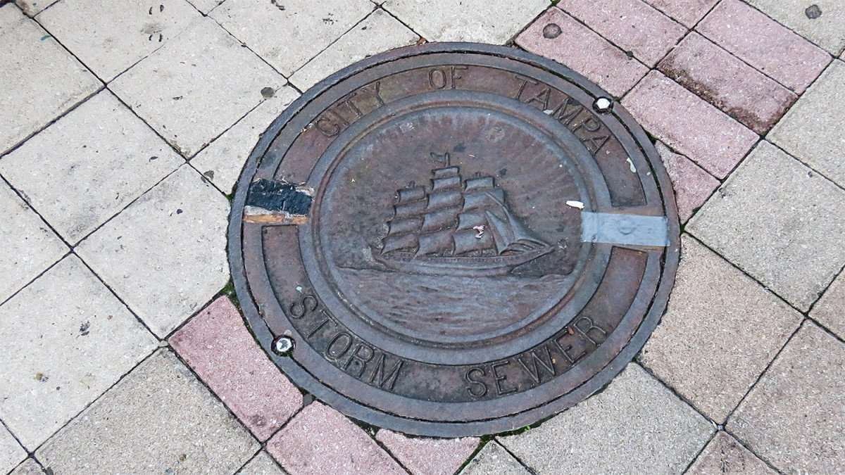 Mar 27, 2016 - City Of Tampa storm drain sewer lid with sail boat in Ybor Centro, Tampa FL/photonews247.com