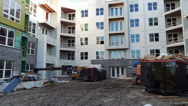July 19, 2015 - Construction of Broadstone Hyde Park Apartment on Platt St, Tampa, FL